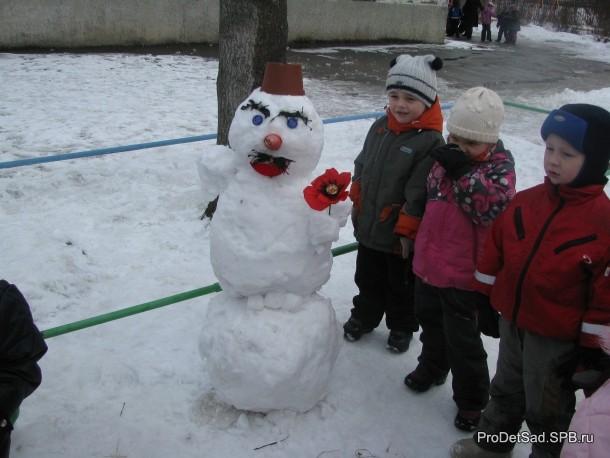 Снеговик дедушка