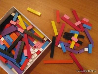 Использование дидактической игры Палочки Кюизенера