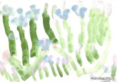 Рисование с использованием песочной терапии в детском саду