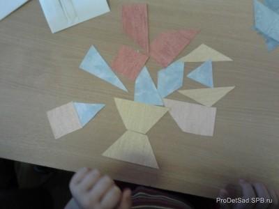 """Развивающая интеллектуальная  игра """"Сложи квадрат"""" в детском саду"""