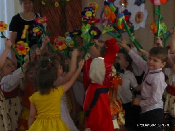 цветы танец дети