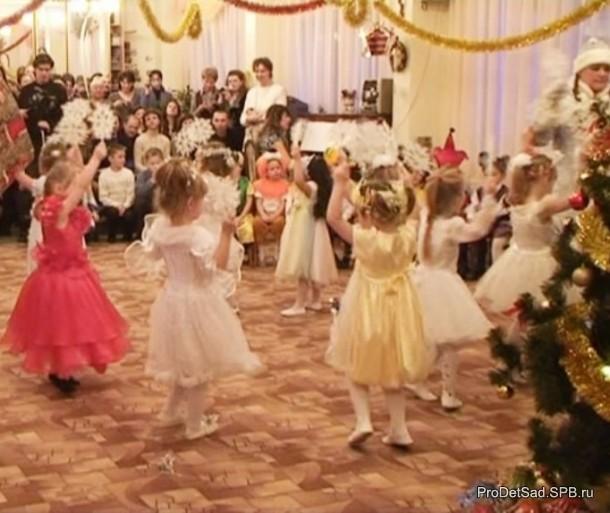 снежинки танцуют танец