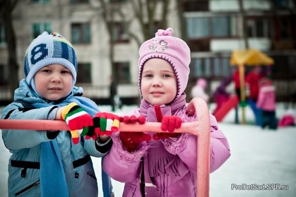 дети зимой на улице