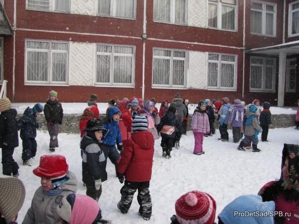 дети зимой масленица