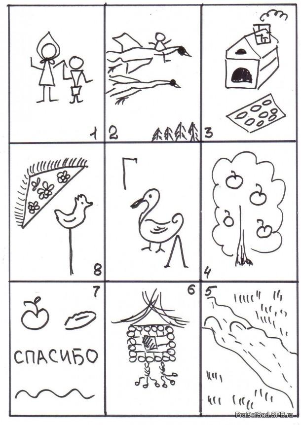 Сказка гуси - лебеди