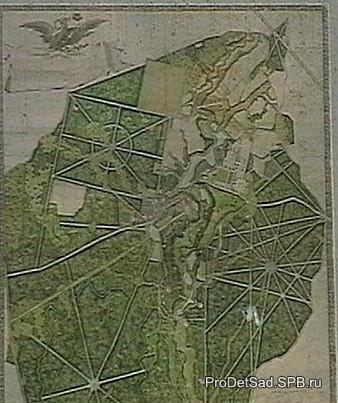 карта Павловского парка