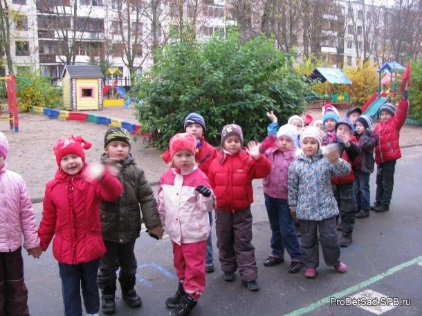 построение у детского сада