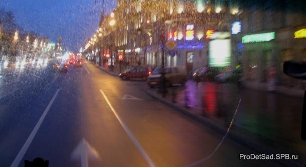 Невский проспект дождь