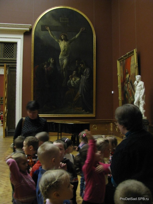 дети в залах Русского музея