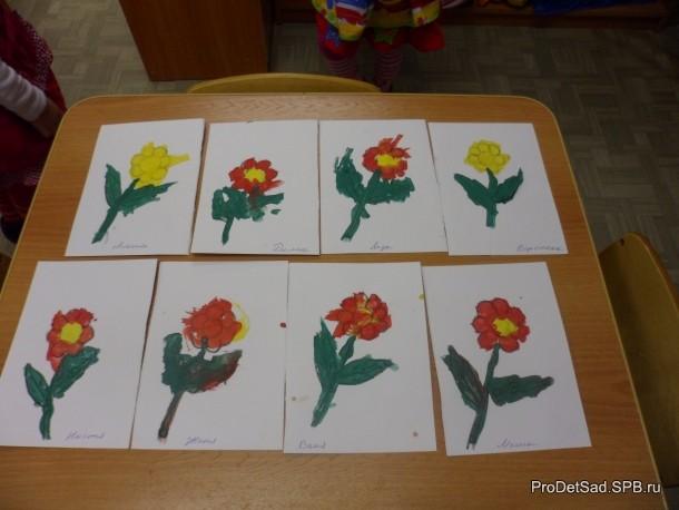 Цветочки для мамы