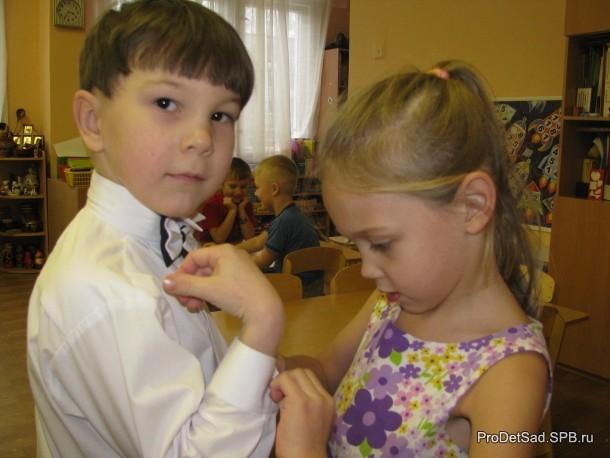 Дети готовятся к празднику