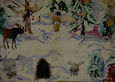 ФГТ В ДОУ - конспект занятия - тема:Зимовье зверей