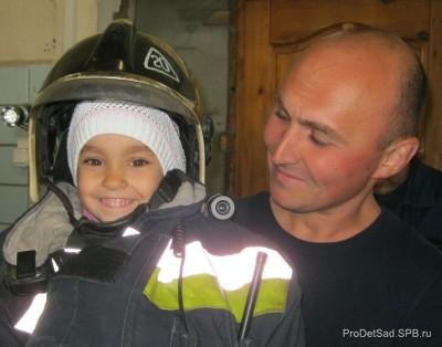 Пожарные и дети - экскурсия в пожарную часть