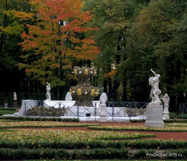 фонтан из ракушек
