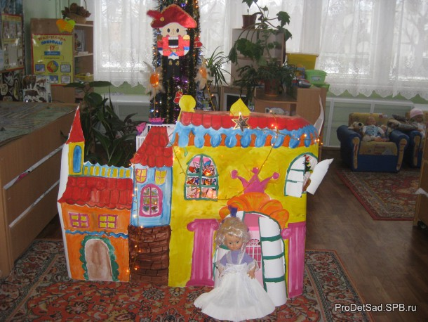 Замок к сказке поделка детей