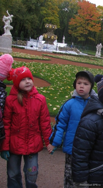 Летний сад глазами дошкольников - экскурсия октябрь 2013